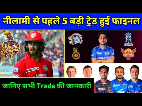 IPL 2020 - These 5 Trades to Happen in Trade Window Before IPL Auction