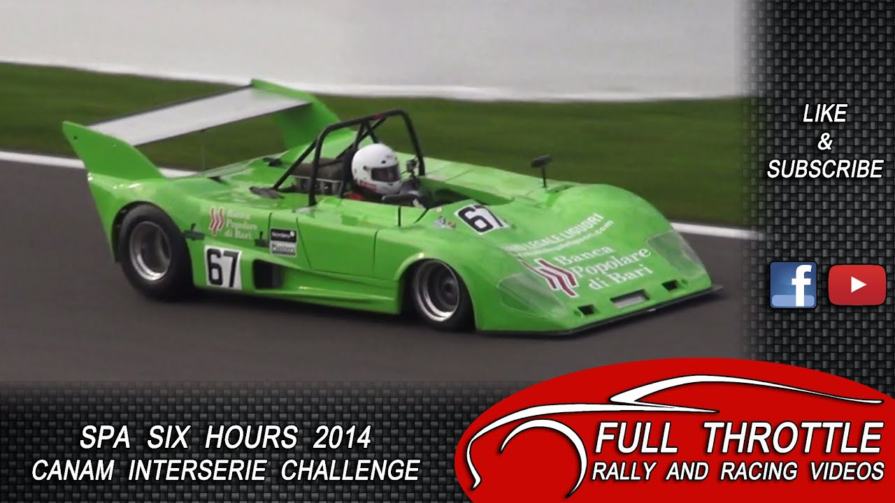 CanAm cars Spa Six Hours Classic 2014 HD pure sound