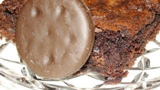 Thin Mint Brownies (using Girl Scout Cookies)