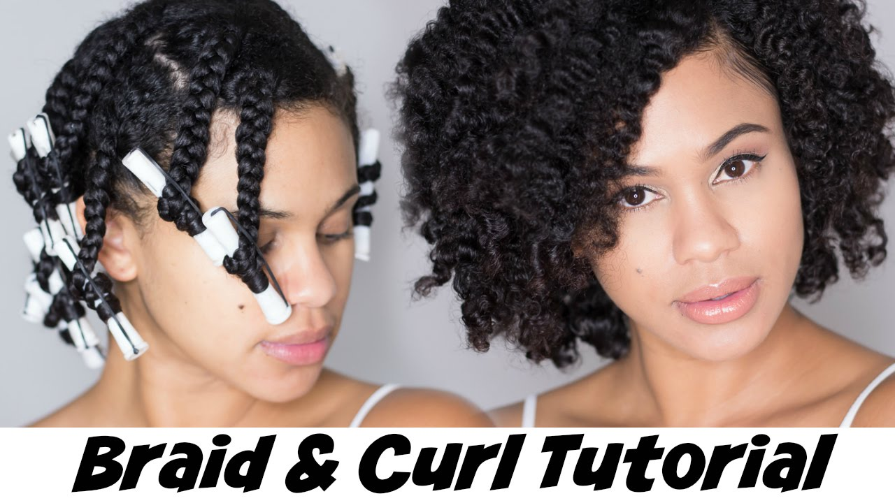 Braid and Curl Tutorial on Natural Hair with Hair Yum ...