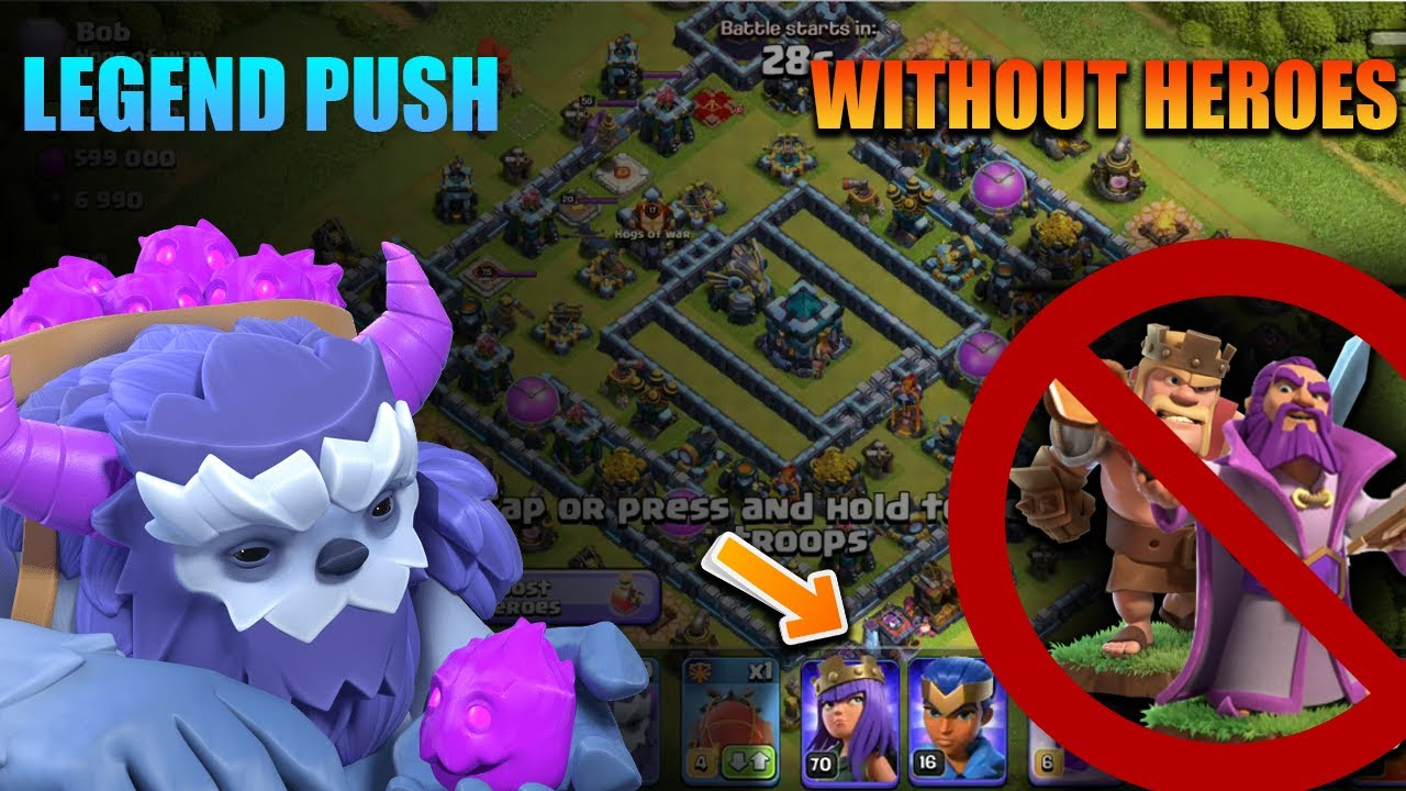 Th 13 Best Yeti Attack Strategy | Legend League Trophy Pushing without Heroes in Clash of Clans