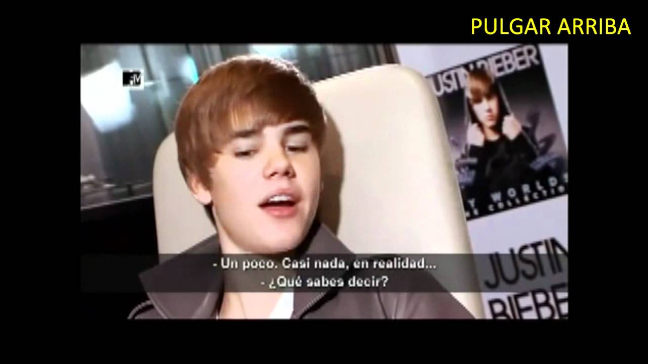 JUSTIN BIEBER HABLANDO EN ESPAÑOL (VIDEO INEDITO) - YouTube