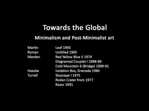 A history of modern art in 73 lectures: lecture 67 (Minimalism and related later trends)