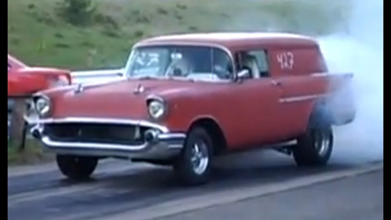 All Chevy 1957 chevy wagon for sale : 1957 Chevy Sedan Delivery vs 1970 Plymouth Roadrunner - Drag Race ...