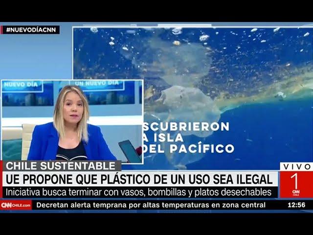 Cata Droguett CNN -  Alto al consumo de plástico en UE