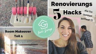 Schlafzimmer DIY - Renovieren Hacks - Room Makeover - Upcycling - Fototapete anbringen -Teil 1/2