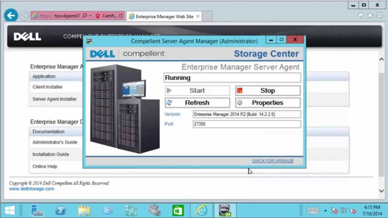 Using the Enterprise Manager Server Agent