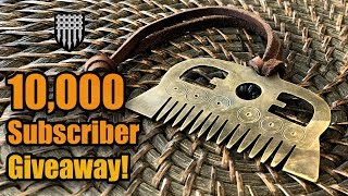 Viking Comb Giveaway - Making a brass comb and giving it away!