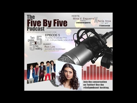 [5x5] 005-Part 1-Dia Frampton in Manila, and the Philippine book scene with guest Ron Lim
