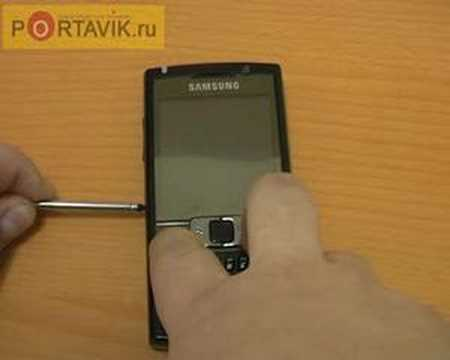 Samsung SGH i780 hard reset howto rus
