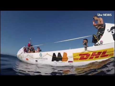 Pedal The Pond: British team attempting to pedal  boat across Atlantic on home straight | ITV News