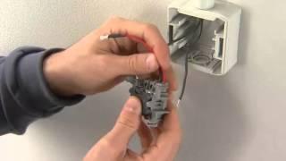 Quteo  установка выключателя IP 44