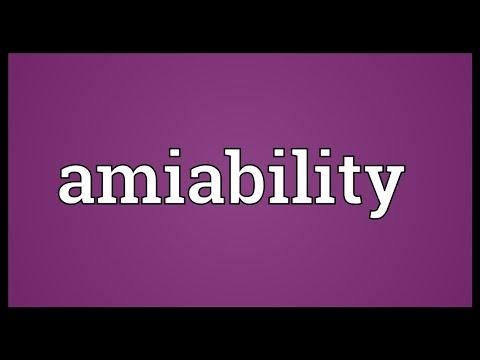 Header of amiability