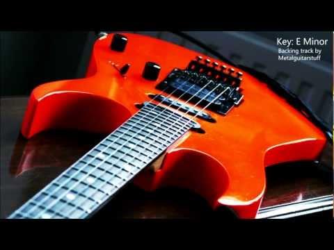 E Minor - Heavy Rock  80s Metal Guitar Backing Track