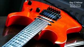 E Minor - Heavy Rock / 80s Metal Guitar Backing Track