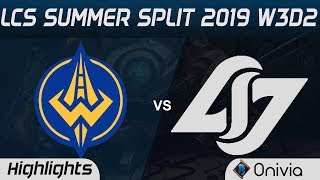 GGS vs CLG Highlights LCS Summer 2019 W3D2 Golden Guardians vs Counter Logic Gaming LCS Highlights b