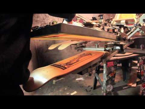 Screen-Printing Skateboards for Hermann's Hole