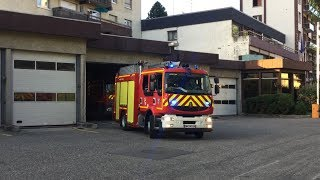 Départs Pompiers Chambéry