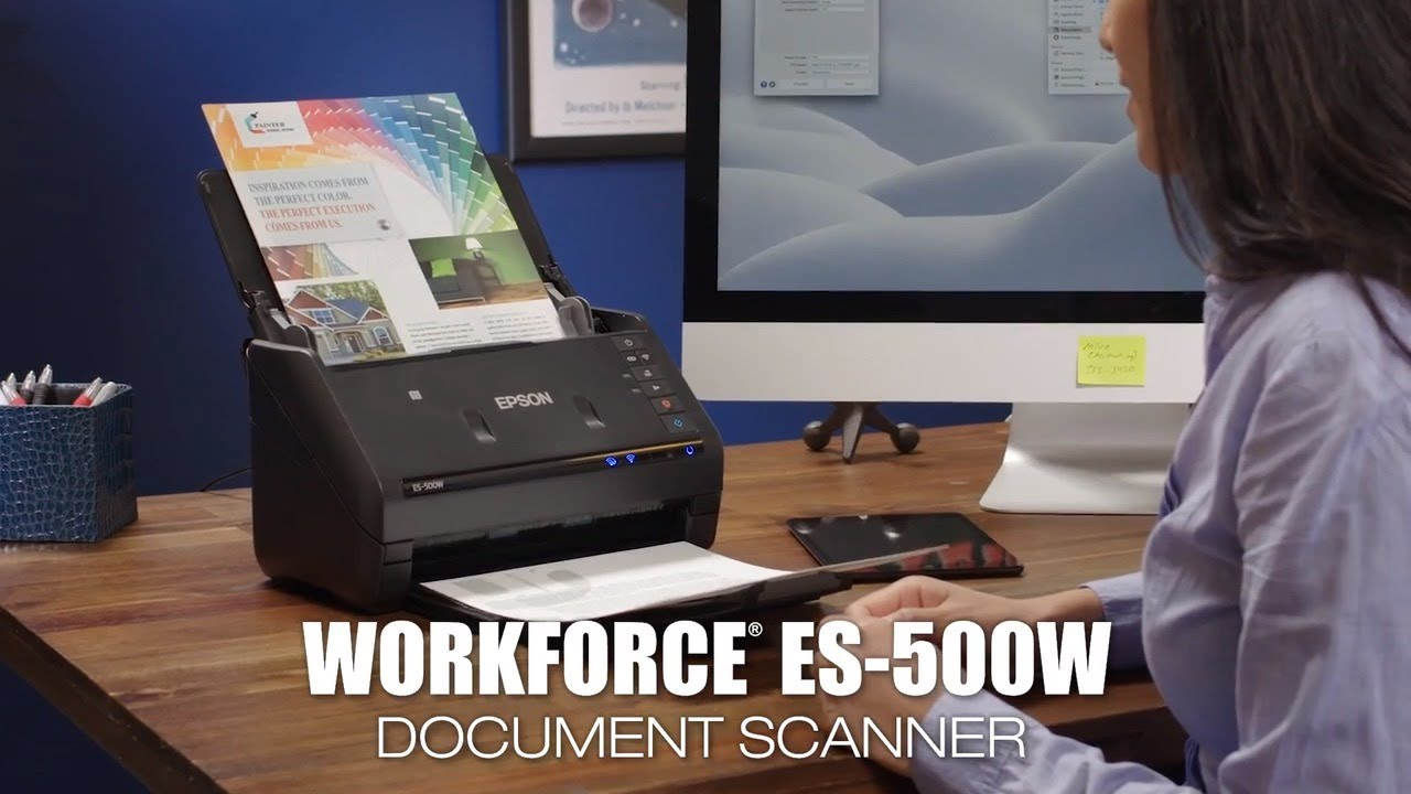 Epson WorkForce ES-500W | Take the Tour of the Wireless Duplex Document  Scanner