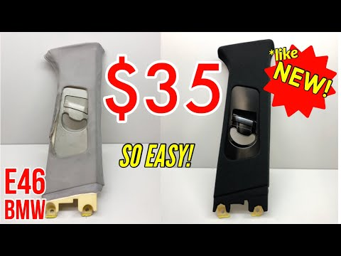 Insane interior transformation for under $35! – Easy upholstery DIY replacement – E46 BMW A/B/C