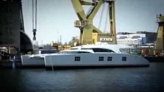 Sunreef 102 ft catamaran IPHARRA launch