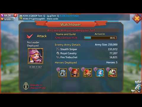 LORDS MOBILE : My First Test TRAP ACCOUNT