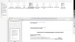 Common notarized documents