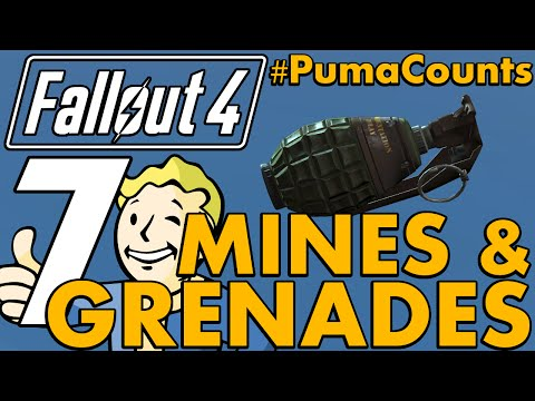 Top 7 Best Ballistic And Energy Grenades And Mines In Fallout 4 #PumaCounts