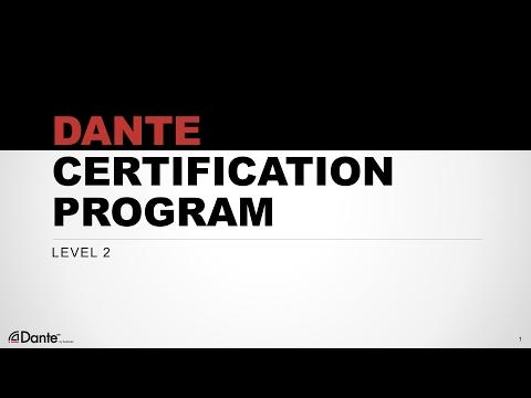 Dante Certification Level 2: #10 Dante Via