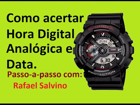 0cde302e24b Casio G shock Ga-110  Como acertar Hora e Data (Parte 1 7)