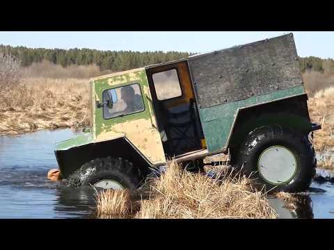 "Вездеход ""Сибиряк"" Тобольск (Russian Floating Homemade 4x4 Buggy Swamp ""SIBER"")"