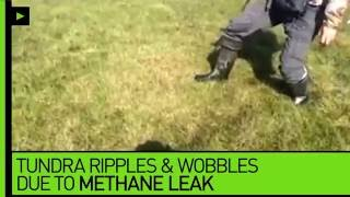 Mind your step! Ground literally ripples & wobbles due to methane leak in tundra