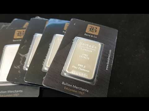 SPOT SPECIAL: Baird & Co 1oz Platinum Bars