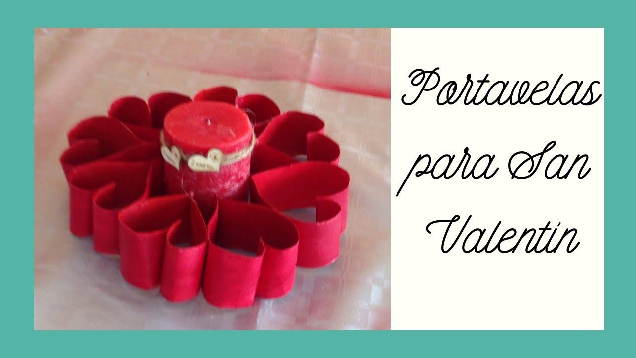 Portavelas san valent n candle holder for valentines day - Adornos de navidad con material de desecho ...
