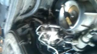 ремонт мерс 124 плавають обороти двигуна.