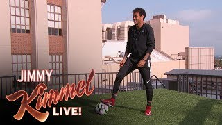Download Neymar Jr. Attempts Terrifying Shot from Jimmy Kimmel's Roof Mp3 and Videos