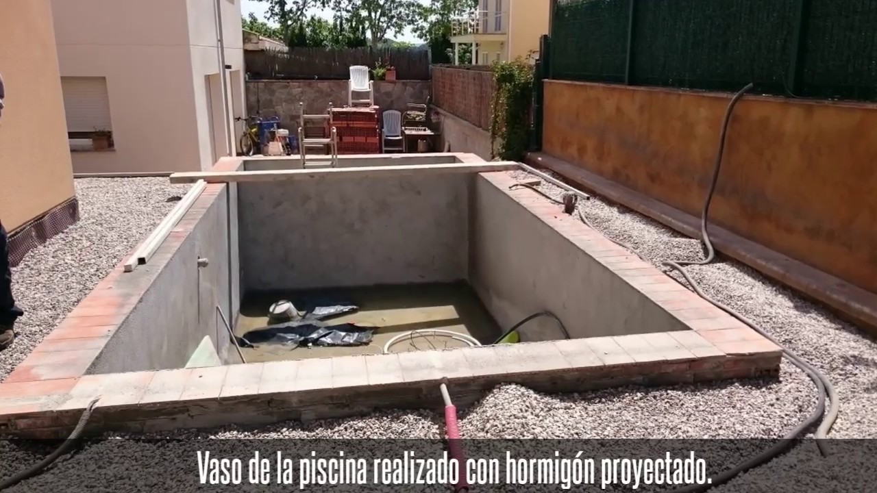 proceso de construcci n peque a piscina familiar youtube