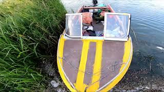 СОМ с лодки на жабу и карп с берега И МОСТИКА