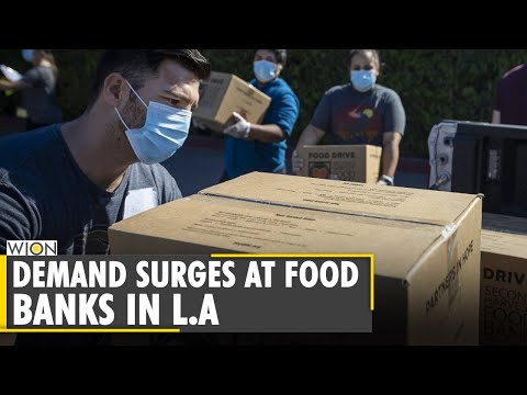 L.A food banks witness unmatched rise in demand|World News|US News thumbnail