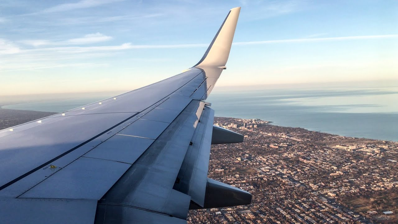 Landing Of American Airlines Flight 343 At Chicago O Hare