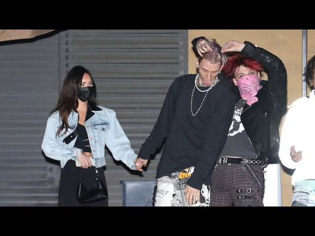 MGK's Clowns Around With Pal Yungblud After Dinner With Megan Fox