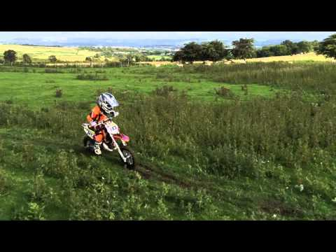 Kian #8 (age 5) & Evan #10 (age 6) up on Bargoed Mountain on their KTM 50 sx's...