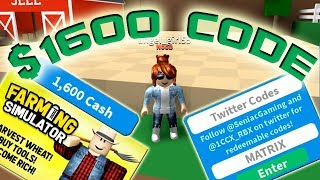 Roblox Farming Simulator - MONEY CODES! PRICE $1600