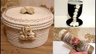 DIY | 3 Ways to Use Double-Sided Tape and Rope /Recycled materials