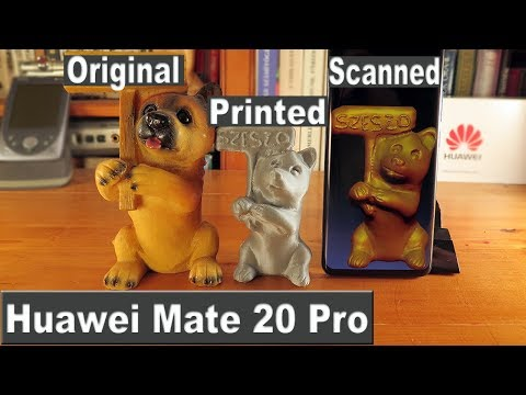 Huawei Mate 20 Pro Object scanning with 3D Live Maker app and Make it Real with 3D Printer