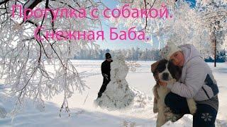 Прогулка с собакой. Снежная Баба. Reneya FEV.