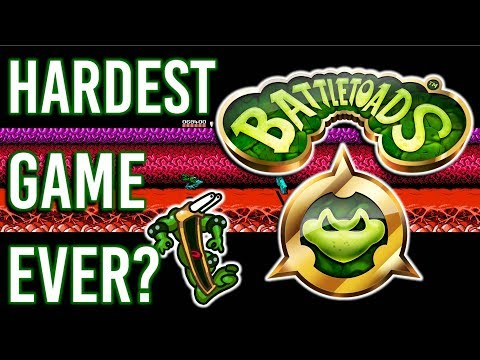 Trying To Beat One of The HARDEST Games Of All Time   BATTLETOADS (NES)