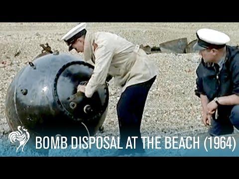 Bomb Disposal On Britain's Beaches (1964) | British Pathé