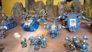 Space Marine army over view. Warhammer 40k