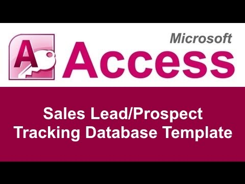 microsoft access sales lead prospect tracking database template youtube. Black Bedroom Furniture Sets. Home Design Ideas